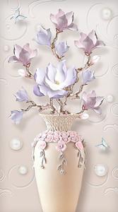 Цветы в вазочке с розочками