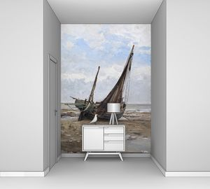 Аэс Карлос де. Рыбацкая лодка на побережье Нормандии