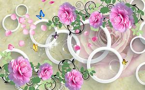 Разновеликие кольца с розами