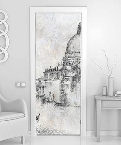 Венеция, Эскиз на кирпичной стене
