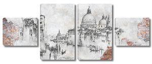 Венеция. Эскиз на кирпичной стене