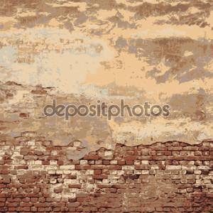 кирпичная стена старого дома