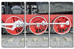 паровой локомотив колеса