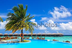 Swimming pool near the beach