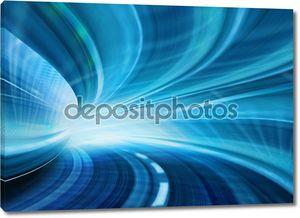 Абстрактный скорость движения в шоссе автомобильный тоннель