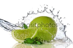 Плеск воды на известь с мятой