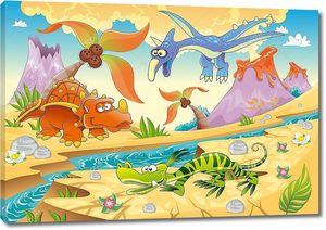 Монстры динозавров с доисторических фон