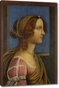 Боттичелли Сандро. Портрет дамы в профиль