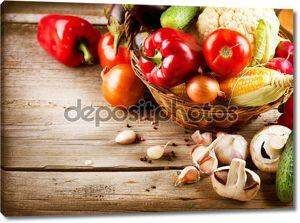 Здоровые органические овощи. Био продукты