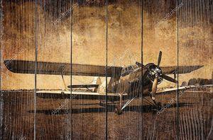 Старый самолет винтажное фото