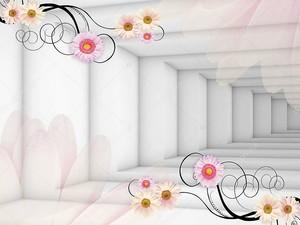 Туннель, розовые бутоны