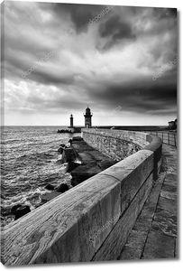 Франция, Корсика, Бастия, мнение света порт и порт входа