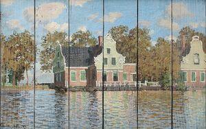 Моне Клод. Дома на реке Заан в Заандаме, 1871