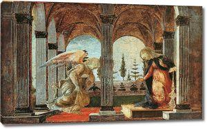 Боттичелли. Благовещение 1490-1493) (Нью-Йорк, Гленс Фаллс)