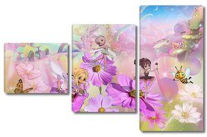 Цветочные феи на поляне