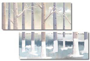 Зимний  стройный лес