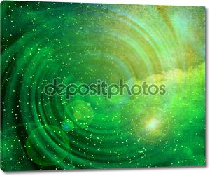Изображение светящейся галактики против Черное пространство