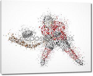 Абстрактный хоккеист
