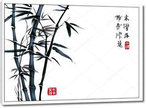 Бамбук с иероглифами