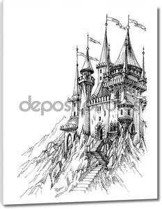Сказочный замок в горах