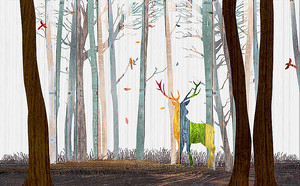 Олень из разноцветных полос