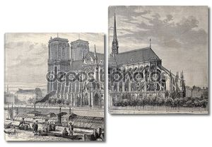 Античная иллюстрация собора Парижской Богоматери