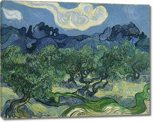 Ван Гог. Оливковые деревья с Альпами на заднем плане