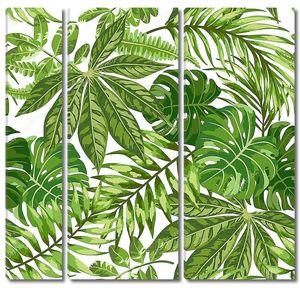 Узор из экзотических листьев