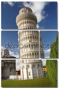 Падающая башня в Пизе, Италия.