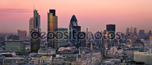 Лондон на розовом закате