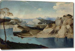 Питер Брейгель. Река среди гор