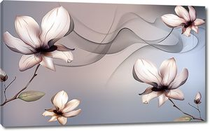 Цветы в дыму