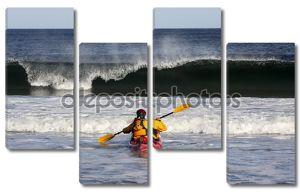 серфинг каяка