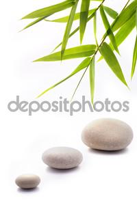 Листья бамбука и три камня