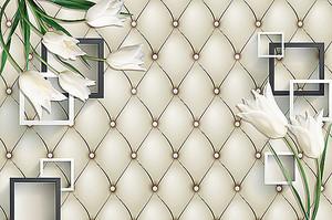 Белые тюльпаны на белой коже