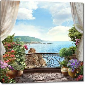 Красивый вид с террасы