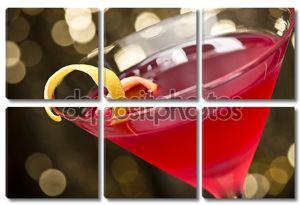 Космополитичный коктейль с лимоном гарнир