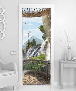 Вид с балкончика на водопад