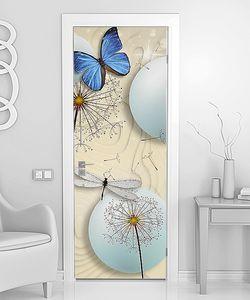 Шары с одуванчиками и бабочками