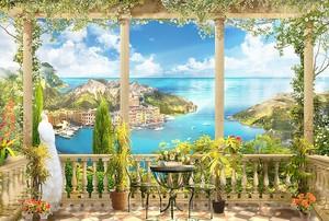 Живописная терраса с видом на море