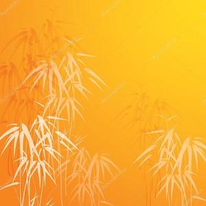 Желтый фон с бамбуком