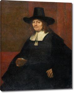 Рембрандт. Портрет мужчины в высокой шляпе