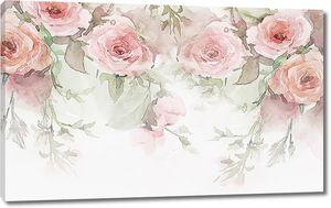 Розы написанные акварелью