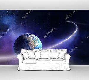 Комета вокруг планеты Земля