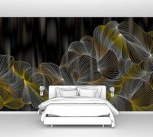 Lusso II-переплетение светящихся линий на черном