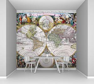Старая карта состоящая из кругов