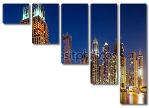 Дубай Марина, Дубай, ОАЭ в сумерках