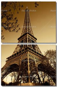 Париж Эйфелева башня снизу