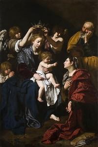 Бартоломео Кавароззи. Святое семейство со святой Екатериной