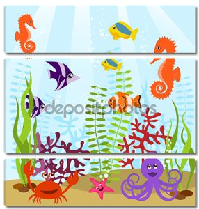 Морской жизни карта